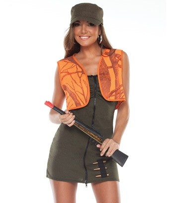 Sexy Hunter Halloween Costumes for Women