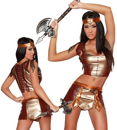 Sexy Warrior Halloween Costumes