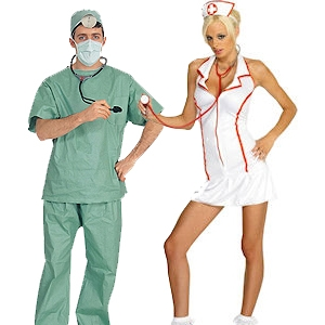 Doctor and Nurse Couples Halloween Costumes