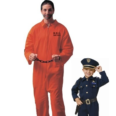 Daddy son and cop