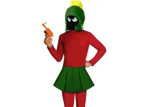 Adult and Children Marvin the Martian Halloween Costumes