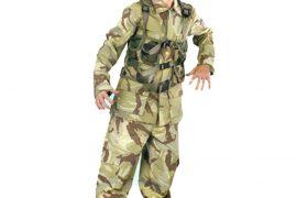Childrens Camouflage Soldier Halloween Costumes