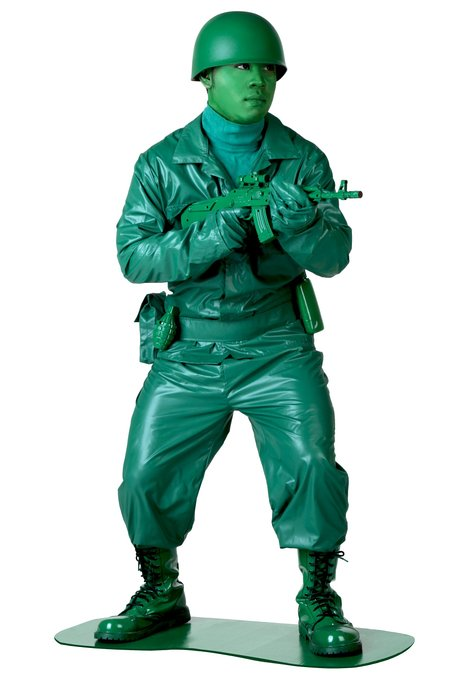 Green Army Man Halloween Costumes