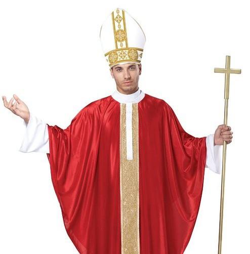 Mens Pontiff Pope Religious Halloween Costumes