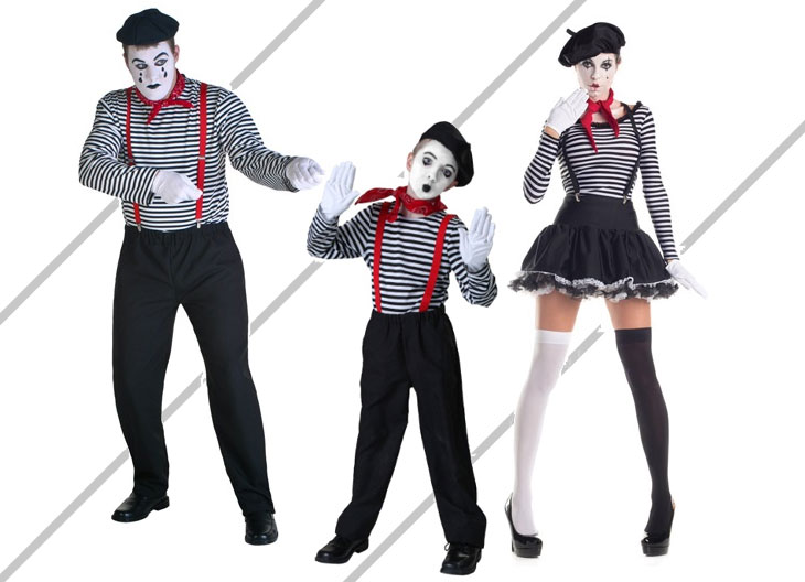 Mime Halloween Costume Kits