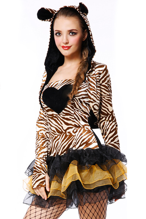 Womens Halloween Zebra Costume